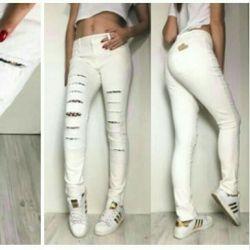 Pants with imitation mesh