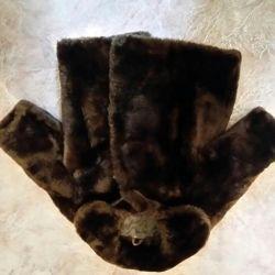 Muton natural fur coat