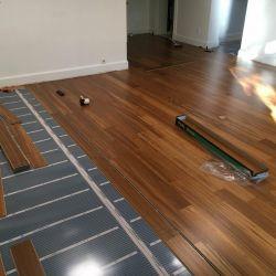 Podea caldă cu instalare