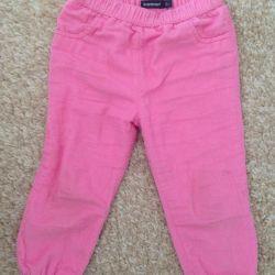 velveteen trousers, 92 cm