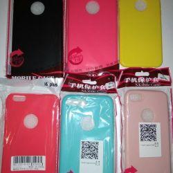 Silikon iPhone 6, 7,8,7 + 8 +, x Kapakları
