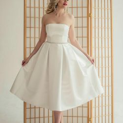 Midi Length Wedding Dress