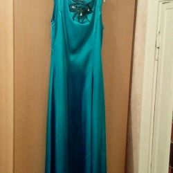 Graduation Satin Blue Dress