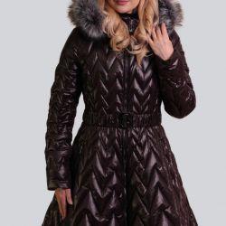 Пальто Артикул: 208 колір т.корічневий розмір 50р.Н