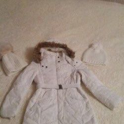 Coat down jacket for spring / warm winter