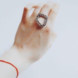 Кольцо цепь
