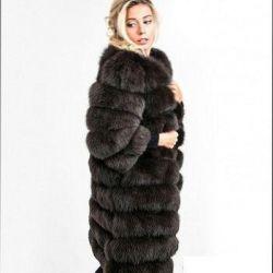 Arctic fox fur coat