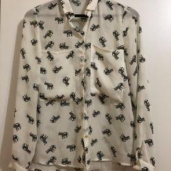 Zara shirt, earrings as a gift :)