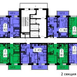 Apartment, 1 room, 38.2 m²