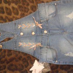 new denim shorts on the straps