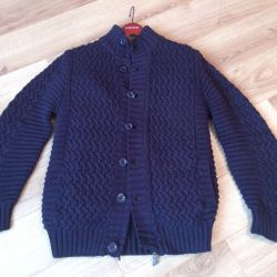 New men's knitted cardigan