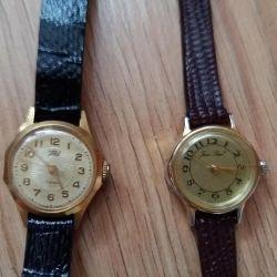 часы женские позолоченные Jean Poul и USSR