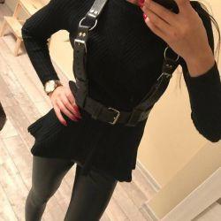 New belt, black genuine leather