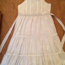 Сарафан с удлинeнной юбкой для девочки