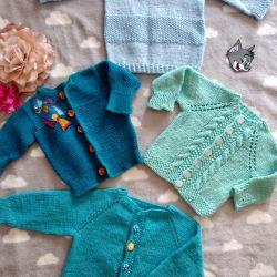 Knitted blouses, handmade