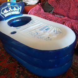 Inflatable bathtub 130x75x70