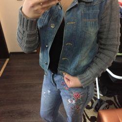 Warm new jeans