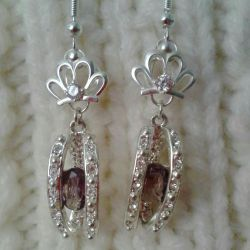New earrings, crowns jewelry work 925.