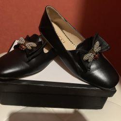 GUCCI Bale Ayakkabısı, süit 38
