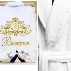 Dressing gown velor