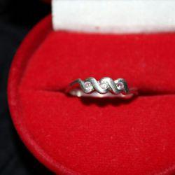 Ασημένιο δαχτυλίδι, ροζ ζιρκόνιο