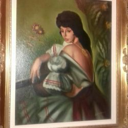 antique paintings on canvas