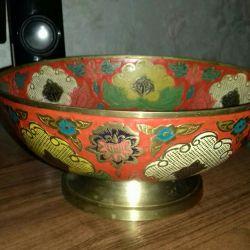Vase India handmade copper