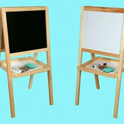 Easel children's wooden