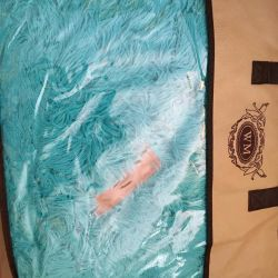 Βελούδινη κουβέρτα Τυρκουάζ