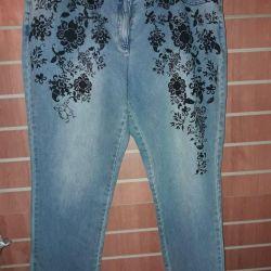 Большемеры женские - джинсы