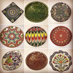 Oriental handmade plates in the range