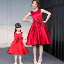 Silk dresses for girls and mothers