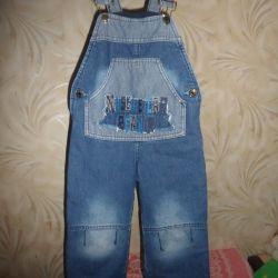 Lined overalls Demi-season.