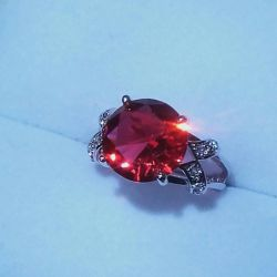 позолоченное кольцо турмалин