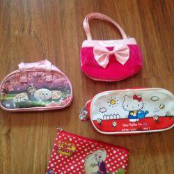 Handbags, purses, cosmetic bags
