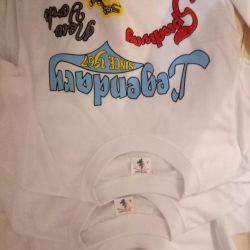 Tricouri noi pentru mic. și fete de la 5-8 ani