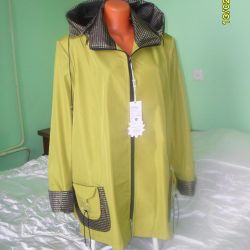 windbreaker with padded shoulder 68 and 70