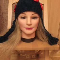 Tricotat pălărie. Stil »Hood Red Riding»