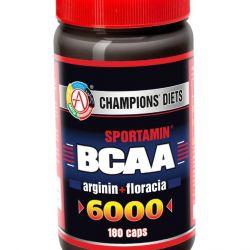 Аминокислоты BCAA 6000 СПОРТАМИН 180 капс.