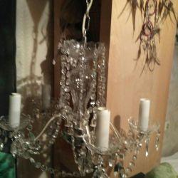 The chandelier is crystal. Czech