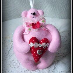 Teddy Bear TASTY SHIRT from felt