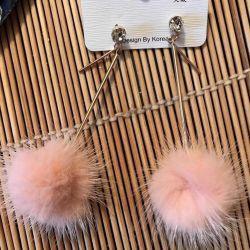 New mink earrings