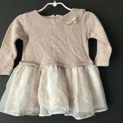Ash-pink dress