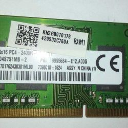Memory for laptop Kingston 2GB, DDR4, part.2400 with