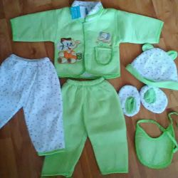 New set and overalls x / b.
