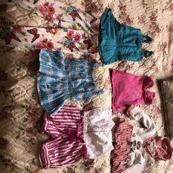 Salopete de vară, rochie, mărimea 104