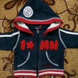 Продам спортивную курточку на малыша от 0-3 месяце