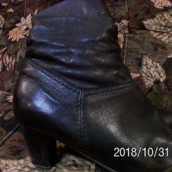 Demi-sezon botları, deri