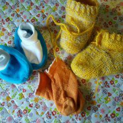 Шкарпетки та пінетки для малюка