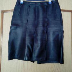 Skirt nat. Leather